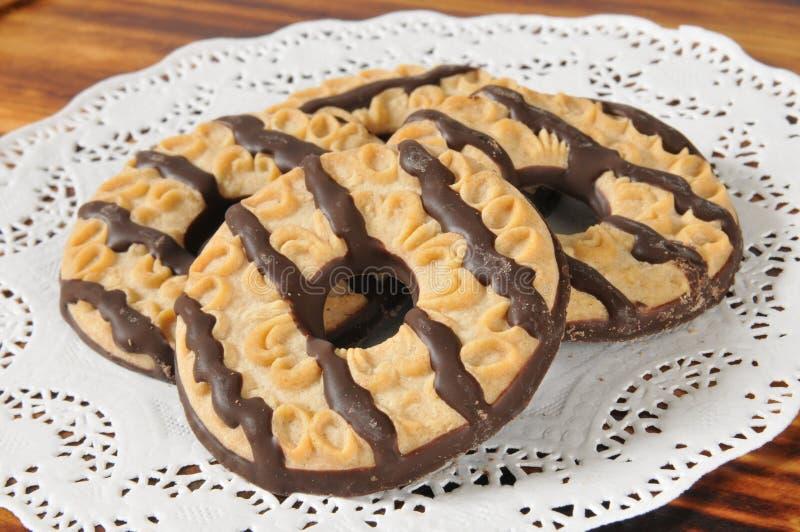 乳脂软糖镶边一种油脂含量较高的酥饼 免版税库存图片