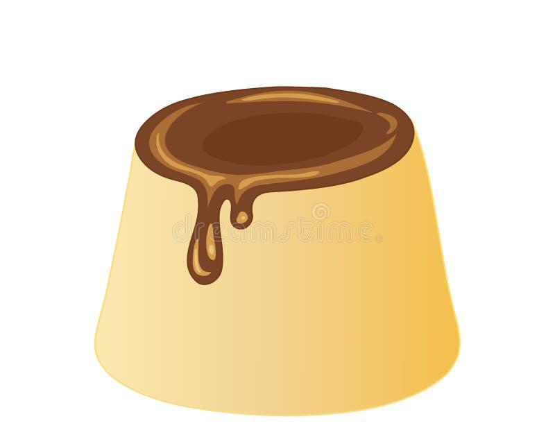 乳蛋糕布丁 向量例证