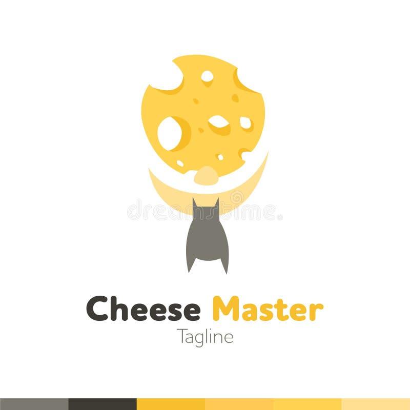 乳酪主要商标,餐馆商标,食物和烹调商标, vect 向量例证