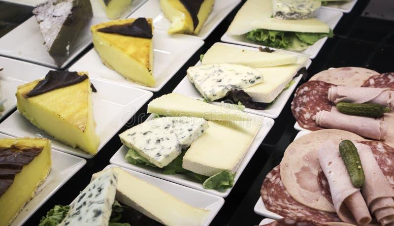 乳酪和波隆纳起始者 免版税图库摄影