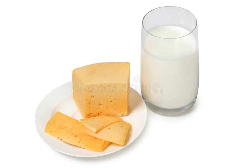 乳酪和牛奶三 库存照片