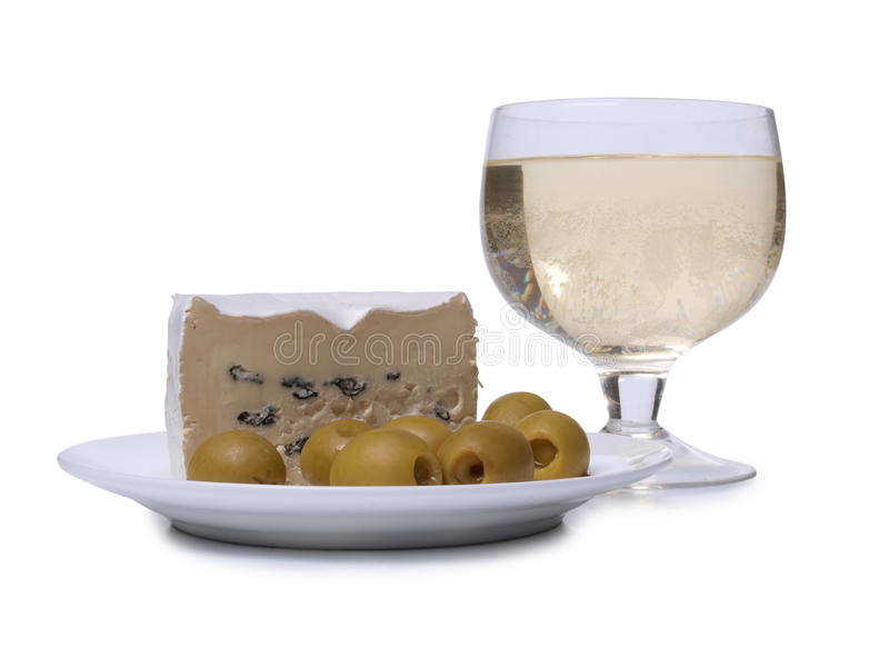 乳酪和饮料 免版税图库摄影