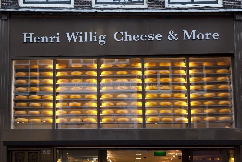 乳酪商店在阿姆斯特丹 免版税库存图片