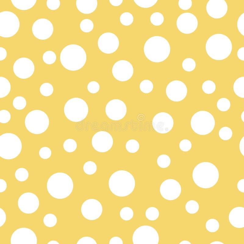 乳酪无缝的纹理 向量例证