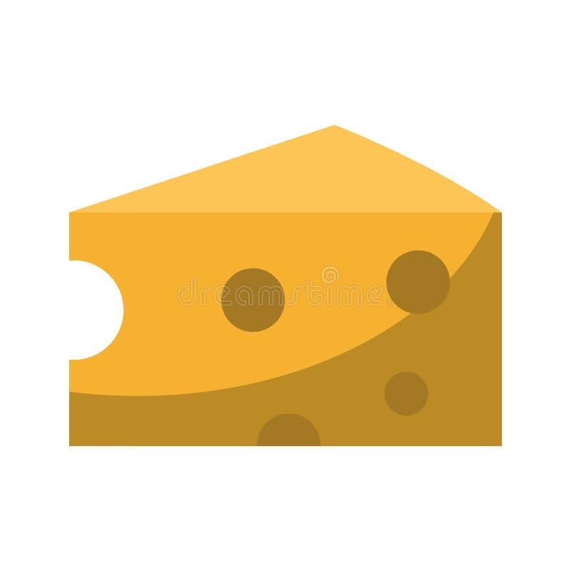 乳酪日志食物被隔绝的动画片 向量例证
