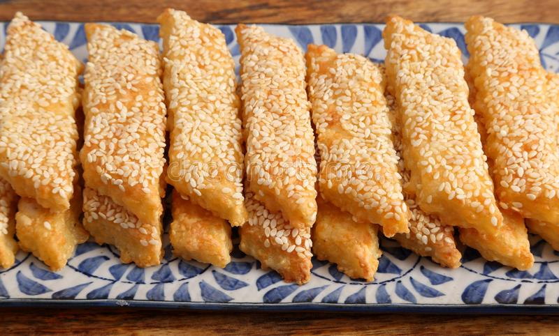 乳酪曲奇饼 库存照片