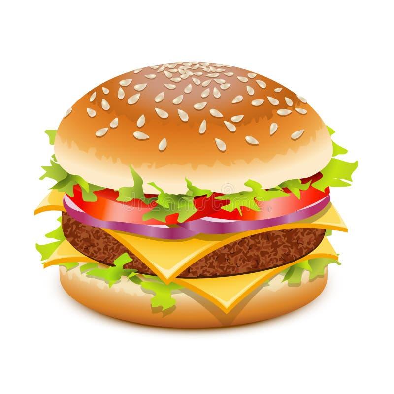 乳酪汉堡 向量例证