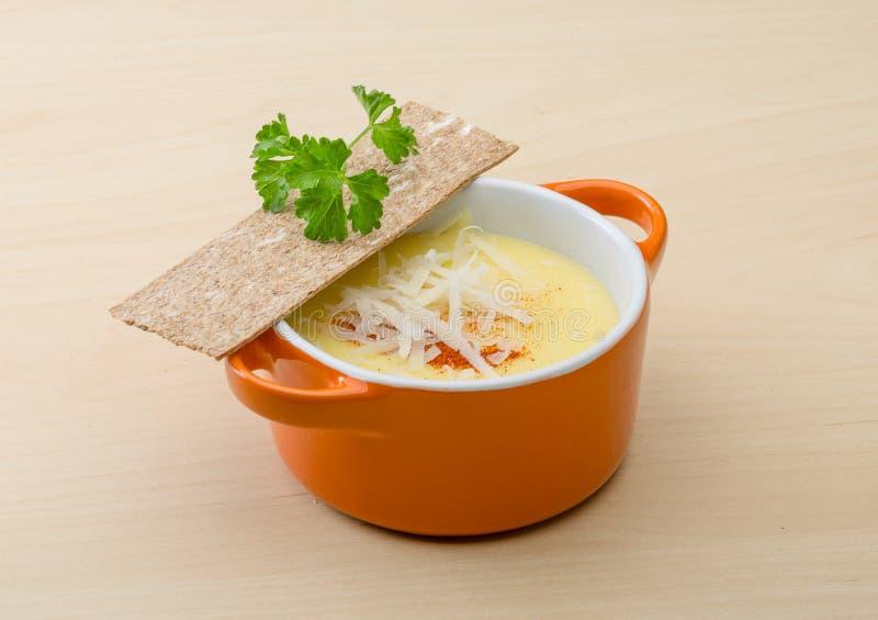 乳酪汤 库存照片