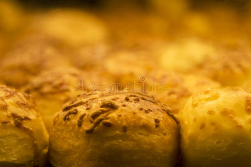 乳酪烤饼宏指令视图 库存图片