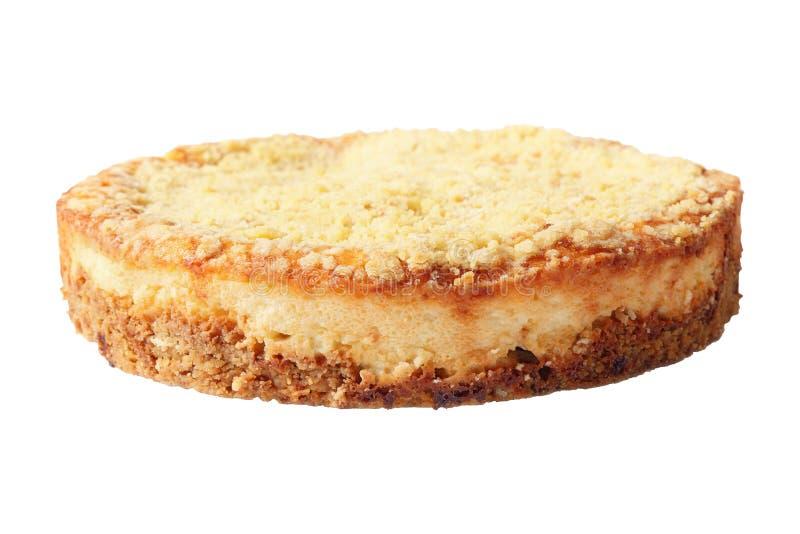 乳酪蛋糕侧视图  免版税库存图片