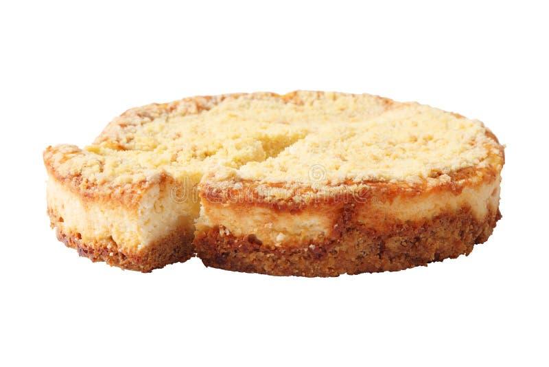 乳酪蛋糕侧视图 免版税库存照片