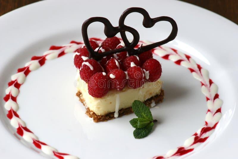 乳酪蛋糕华伦泰 库存图片