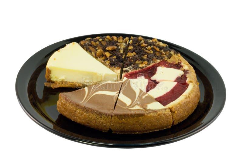 乳酪蛋糕抽样人员 免版税库存图片