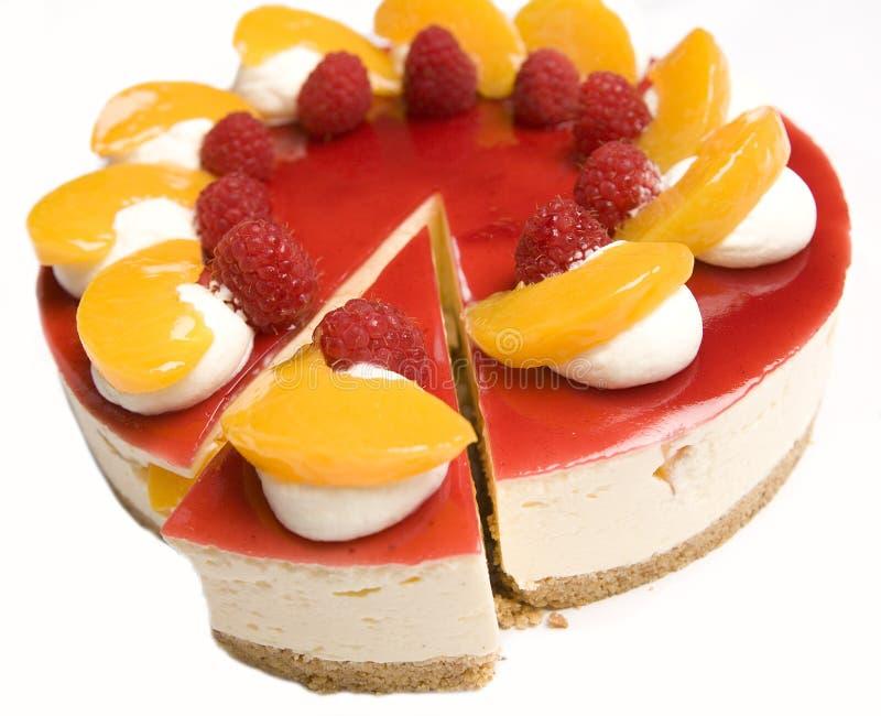 乳酪蛋糕普通话莓 免版税库存照片