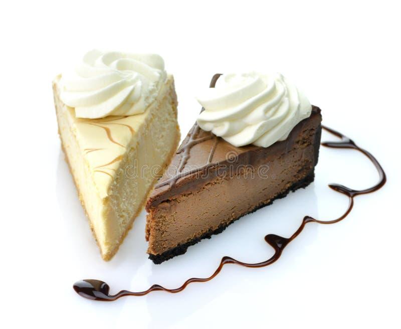 乳酪蛋糕片式 免版税库存图片