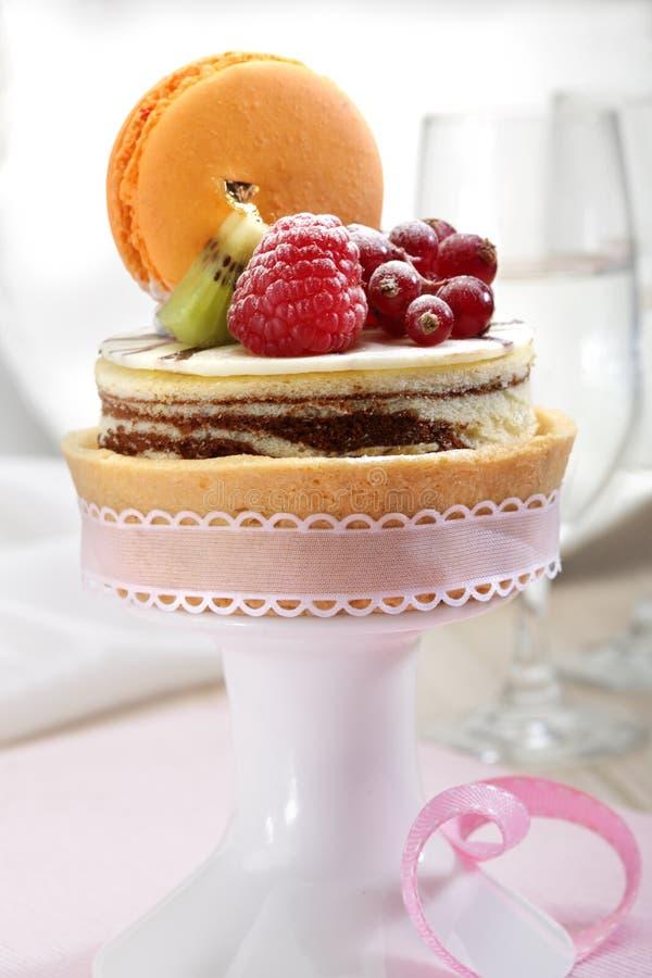 乳酪蛋糕用果子 免版税库存照片