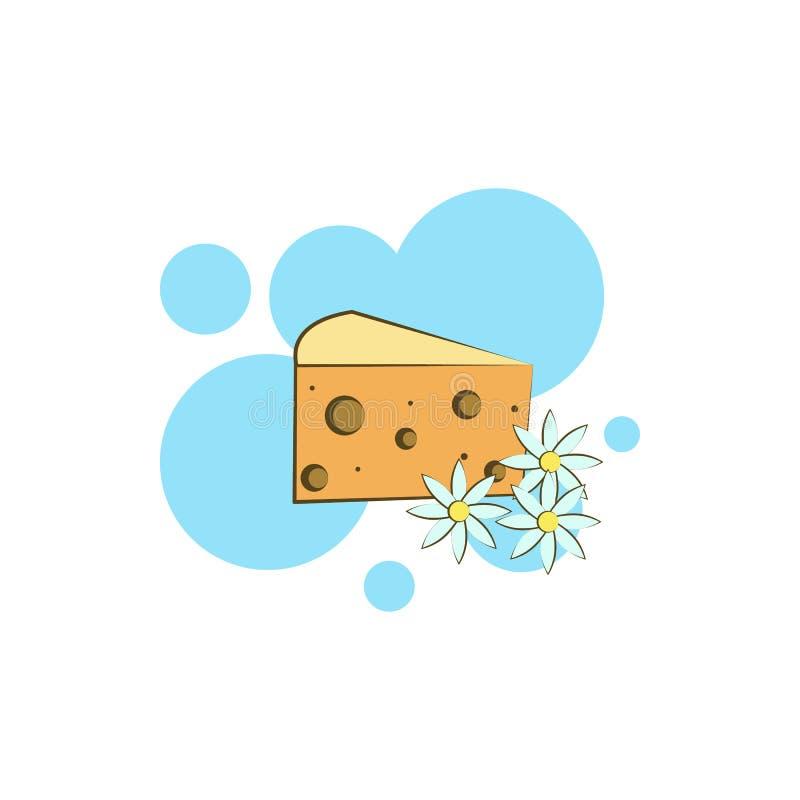 乳酪,mimolette象 颜色乳酪象的元素 向量例证