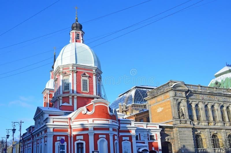 了不起的受难者和愈疗者在街道Pestel, 2 a上的Panteleimon的教会 圣彼德堡 免版税库存照片