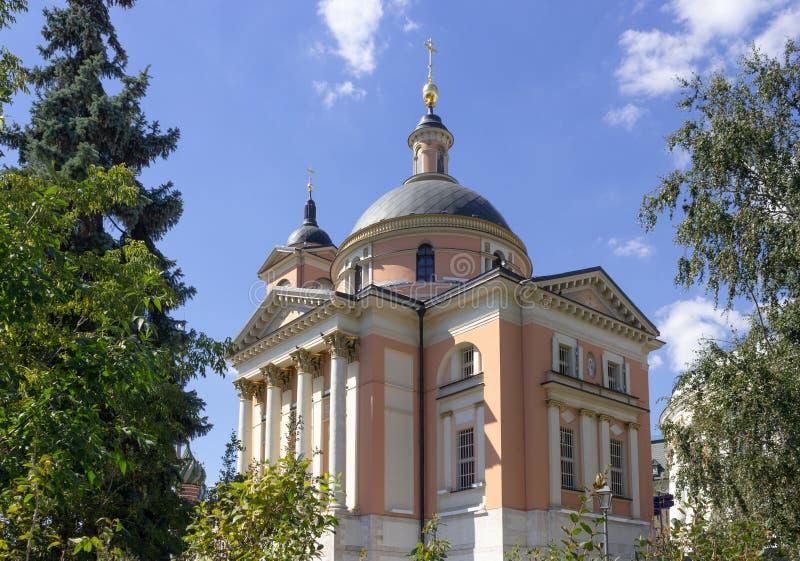 了不起的受难者巴巴拉教会在Varvarka 库存照片