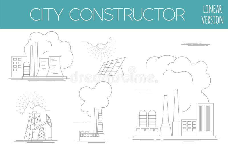 了不起的城市地图创作者 议院建设者 基础设施,印度斯 向量例证