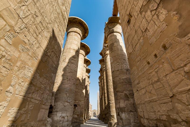 了不起的次附尖霍尔在卡尔纳克寺庙,卢克索,埃及 图库摄影