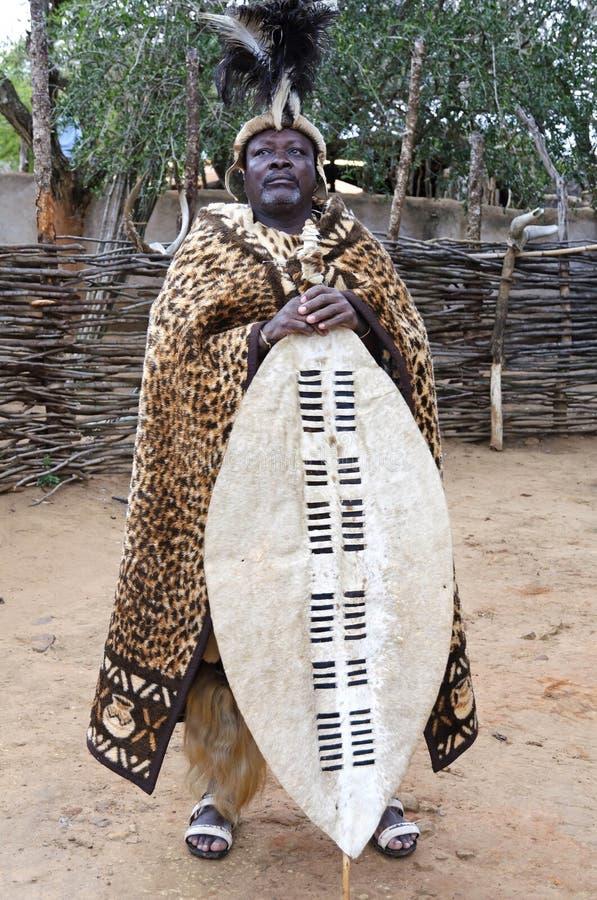 了不起的祖鲁族人国王 免版税库存图片