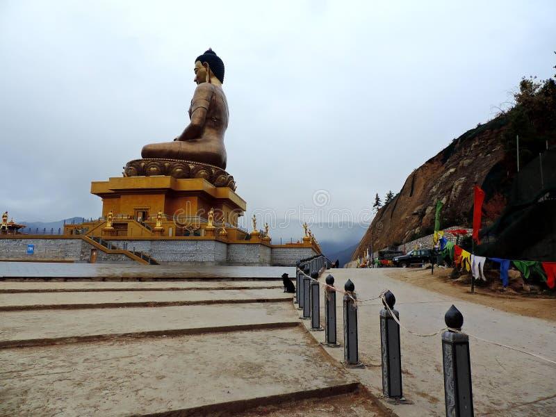 了不起的菩萨Dordenma,廷布,不丹 免版税图库摄影