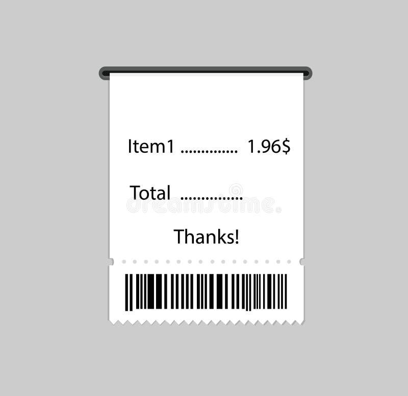 了不起的被设计的传染媒介发货票 皇族释放例证