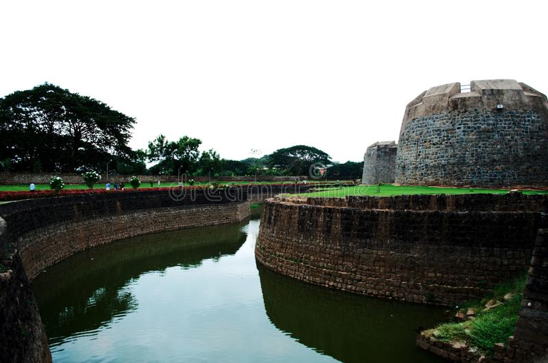 了不起的Tipu苏丹的统治和常青堡垒 免版税库存图片