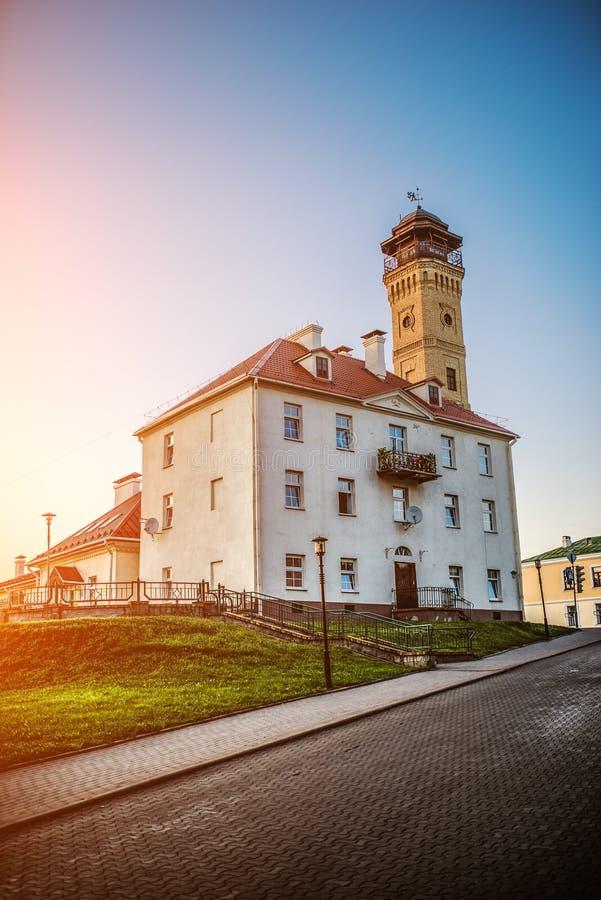 了望塔在哥罗德诺,白俄罗斯 库存照片