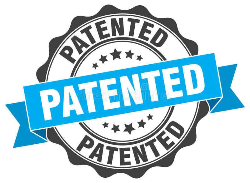 给予专利的印花税 向量例证
