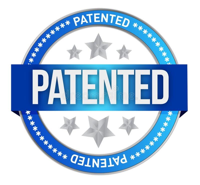 给予专利的知识产权邮票 向量例证