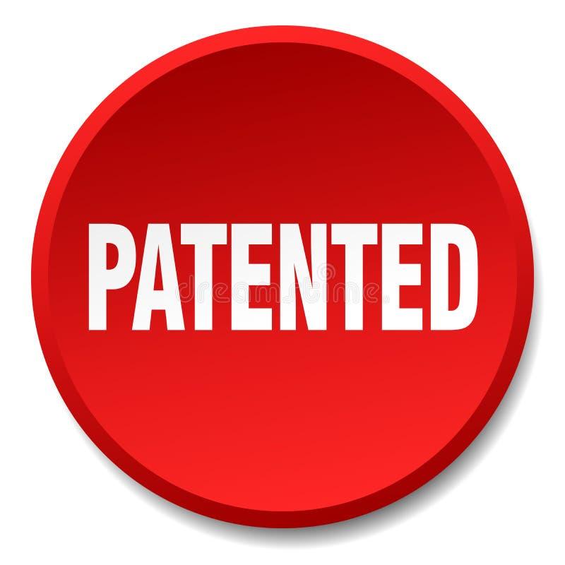 给予专利的红色圆的舱内甲板被隔绝的按钮 向量例证