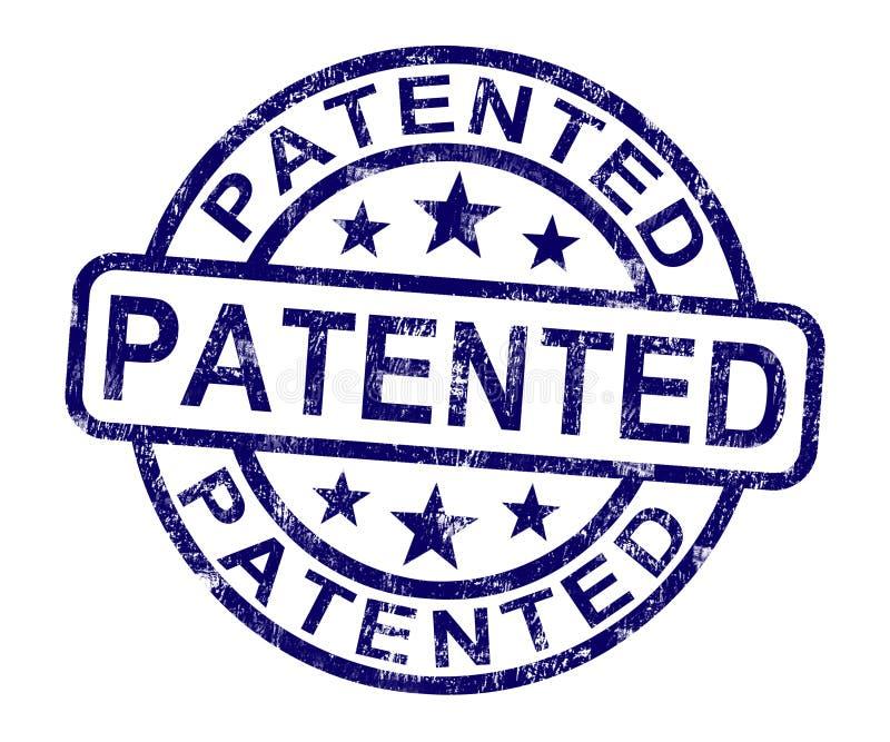 给予专利的邮票陈列登记的专利或商标 库存例证