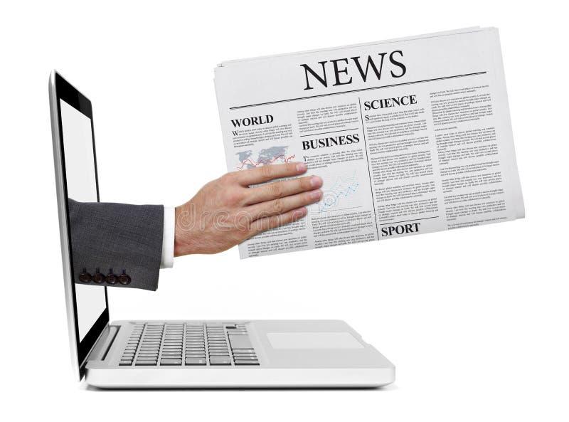 给予您最新的新闻 免版税库存照片