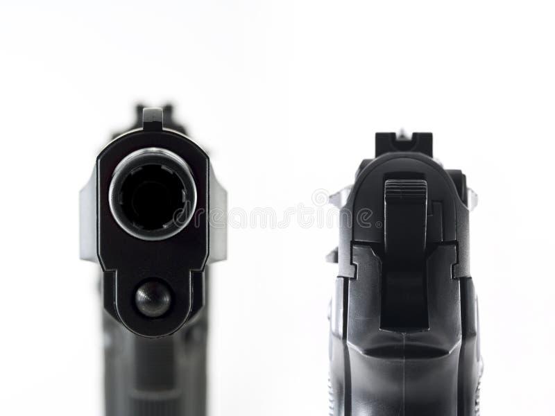 争取桶枪凝视 免版税库存图片