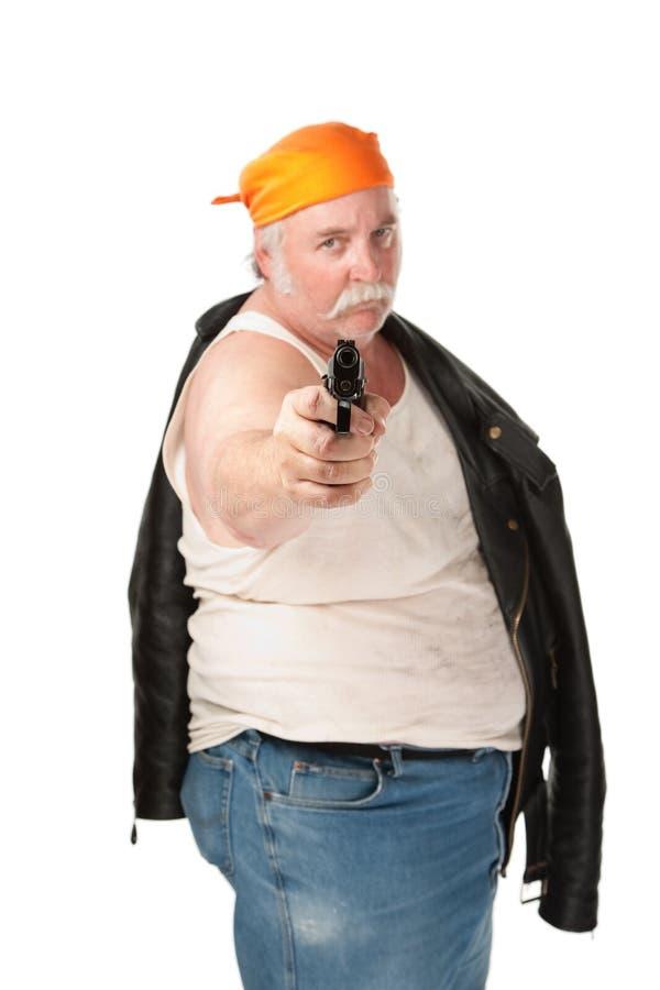 争取的手枪 免版税库存图片