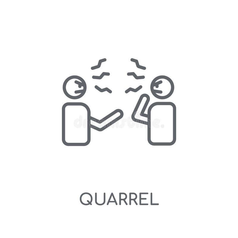 争吵线性象 在丝毫的现代概述争吵商标概念 库存例证