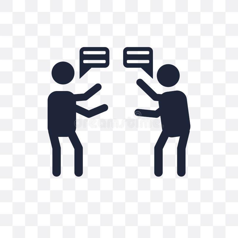 争吵透明象 争吵从Communicati的标志设计 库存例证