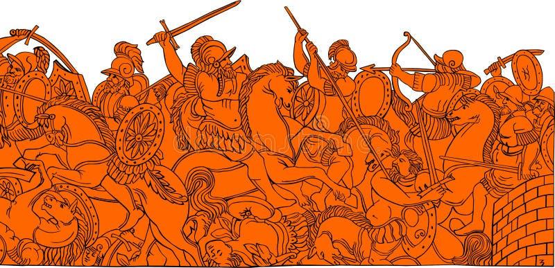 争斗历史记录3 库存例证