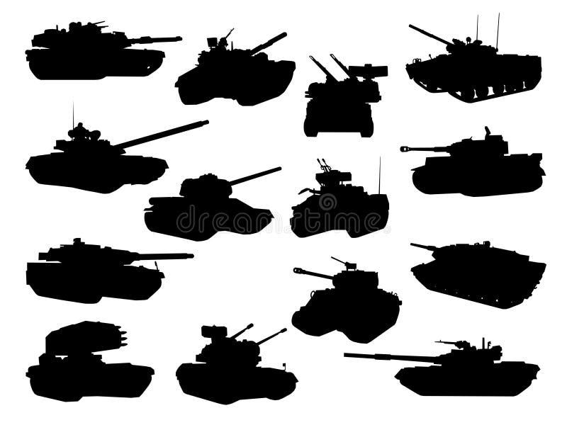争斗收集坦克武器 向量例证