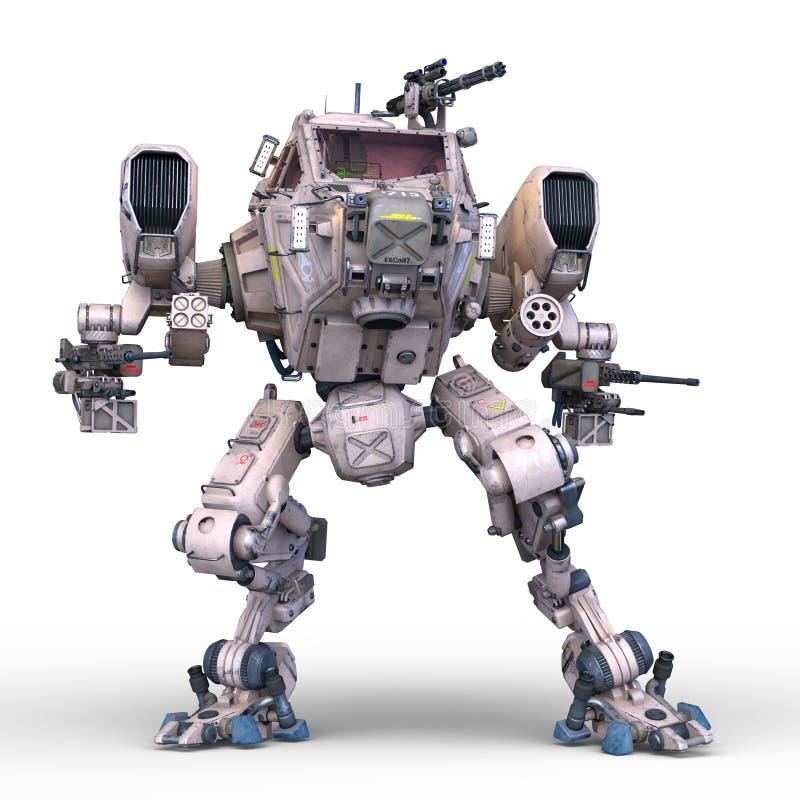 争斗机器人 向量例证