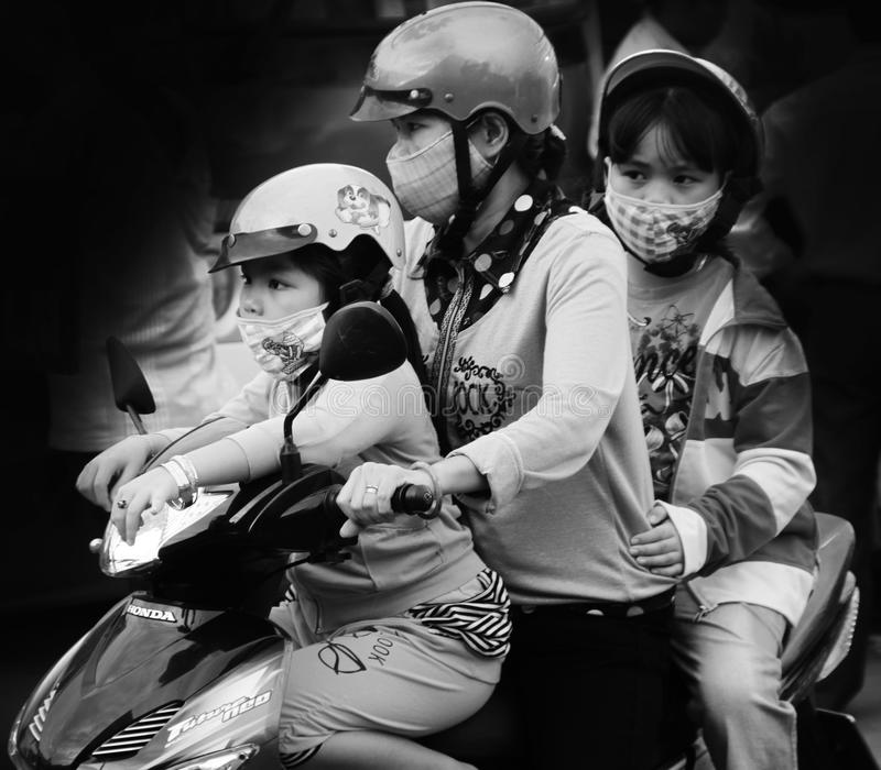 争斗污染开始越南 免版税库存照片