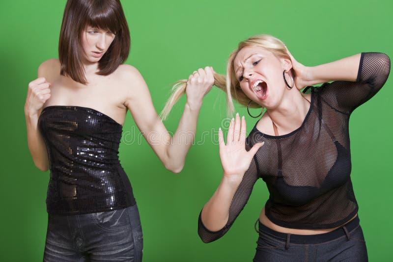 争议女孩 免版税库存图片
