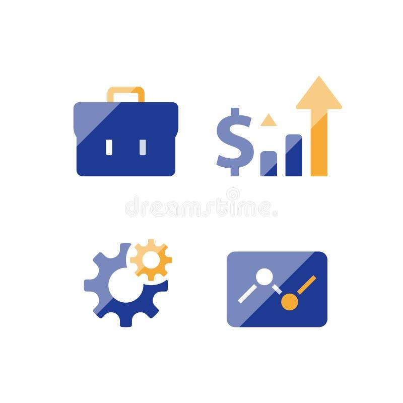 事业企业成长战略,投资基金性能报告,有活力的市场数据逻辑分析方法,经济风险评估 库存例证