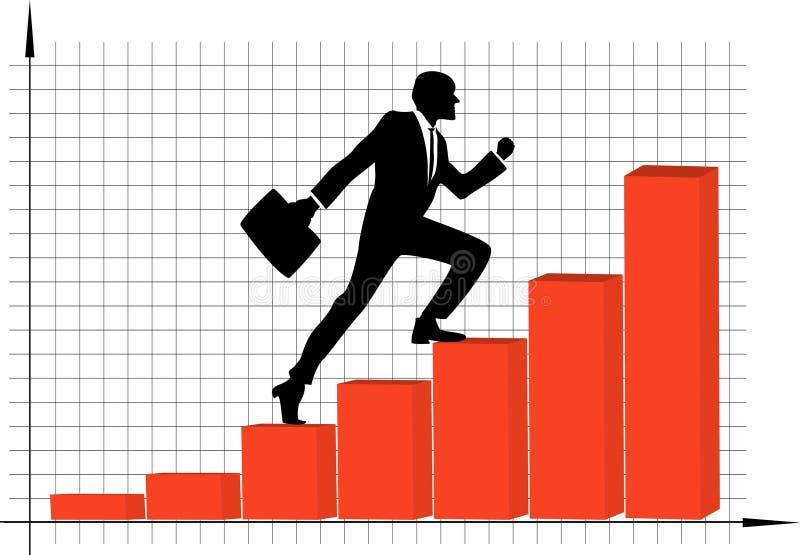 事业增长 库存例证