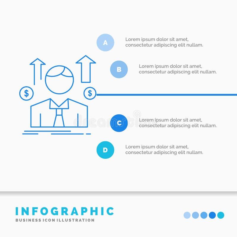 事务、人、具体化、雇员、销售人Infographics模板网站的和介绍 r 向量例证