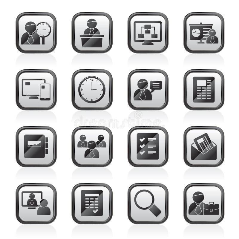 事务、介绍和项目管理象 库存例证