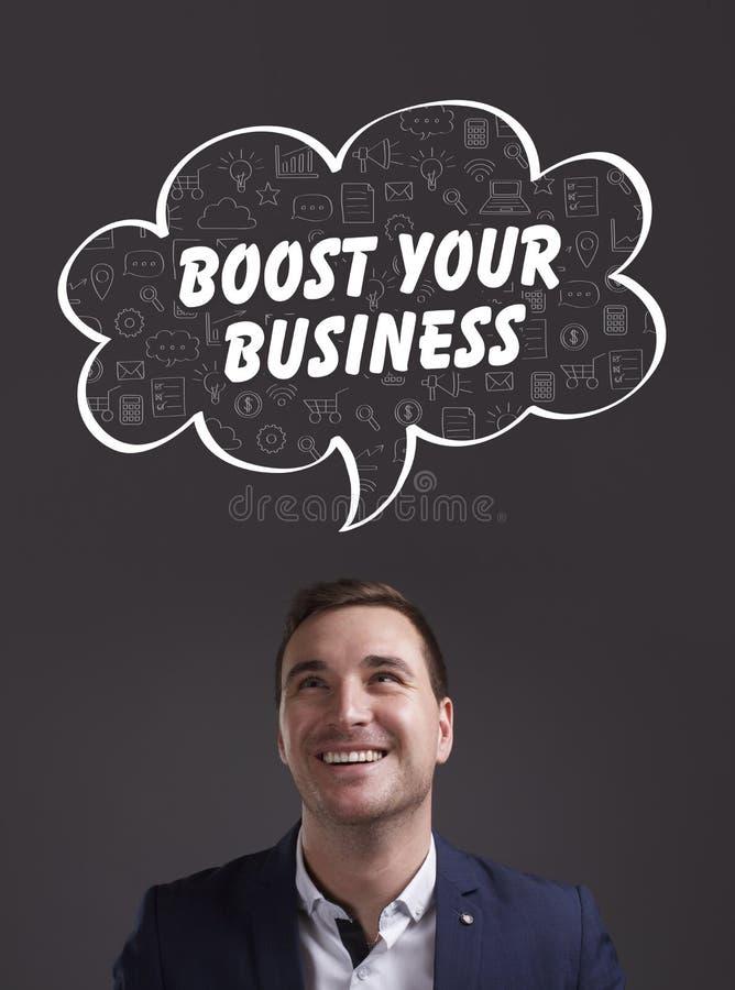 事务、技术、互联网和营销 新生意人 图库摄影