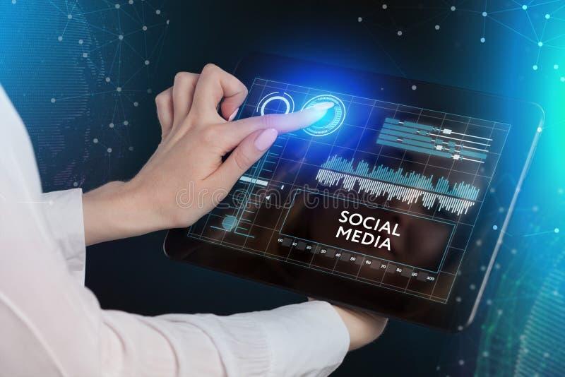 事务、技术、互联网和networ的概念 免版税库存照片